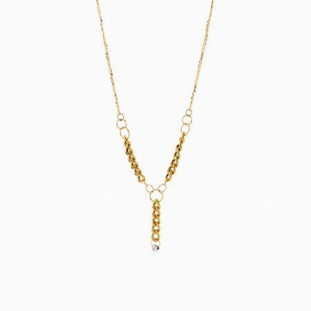 گردنبند طلا 18 عیار زنانه زنجیری مدل کارتیر کد NL0309