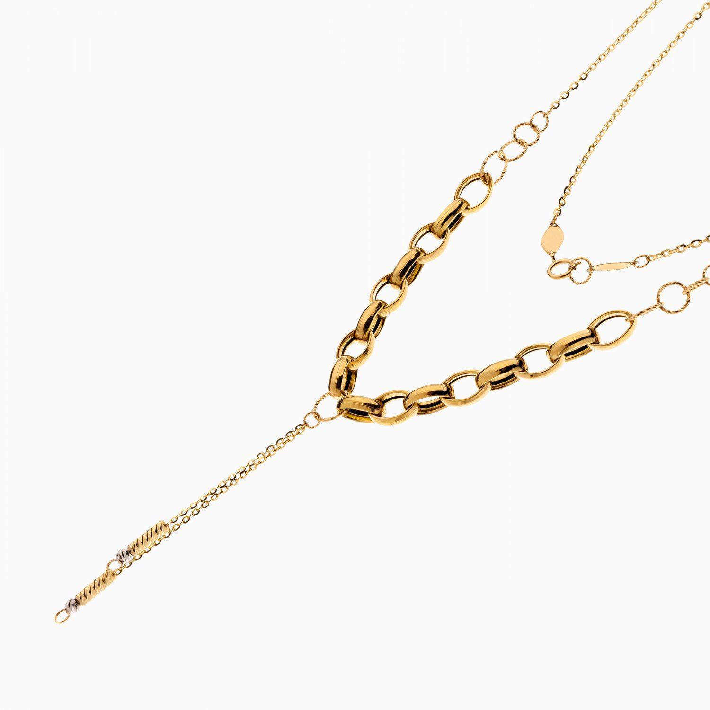 گردنبند طلا 18 عیار زنانه اسپورت مدل زنجیر با آویز کد NL0310