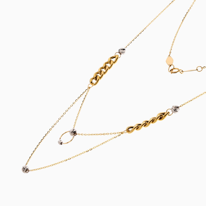 گردنبند طلا 18 عیار زنانه زنجیری مدل کارتیر کد NL0313