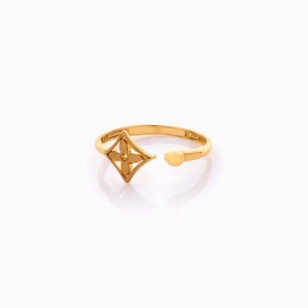 انگشتر طلا 18 عیار دخترانه اسپورت مدل لویی ویتون کد RG0490