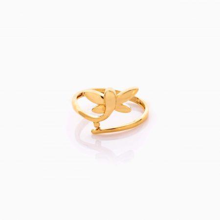 انگشتر طلا 18 عیار دخترانه فانتزی مدل گوچی کد RG0491