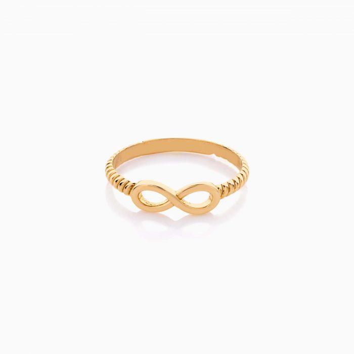 انگشتر طلا 18 عیار دخترانه فانتزی مدل بینهایت کد RG0496