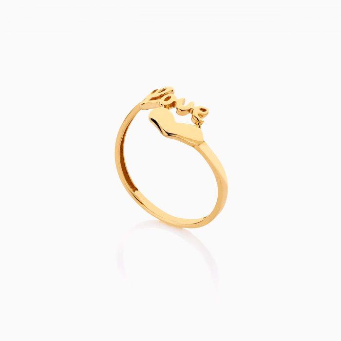 انگشتر طلا 18 عیار دخترانه فانتزی مدل قلب کد RG0497