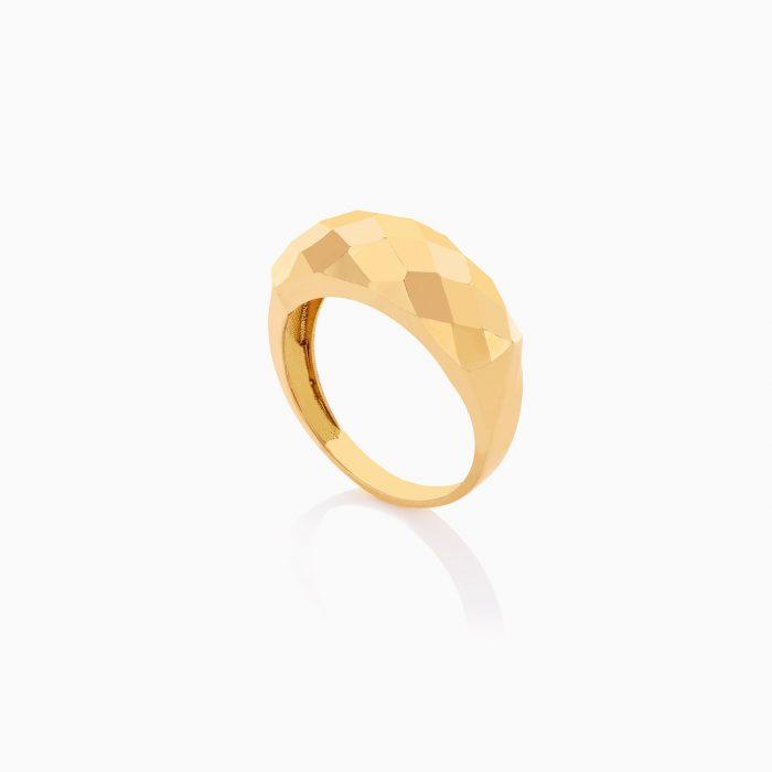 نیم ست طلا 18 عیار زنانه اسپورت طرح لوزی تراش خور کد ST0205