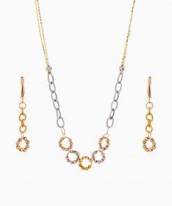 سرویس طلا 18 عیار زنانه زنجیری مدل آلبرنادو کد ST0209