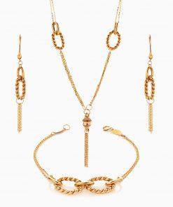 سرویس طلا 18 عیار زنانه زنجیری طرح یورمن کد ST0217