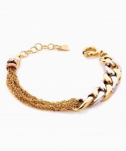 دستبند طلا 18 عیار زنانه زنجیری مدل کارتیر کد BL0444