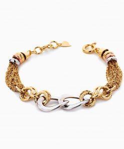دستبند طلا 18 عیار زنانه زنجیری مدل کلاسیک طرح ترک کد BL0445