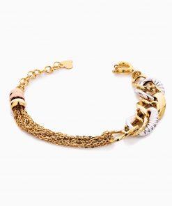 دستبند طلا 18 عیار زنانه زنجیری مدل کلاسیک طرح ترک کد BL0446