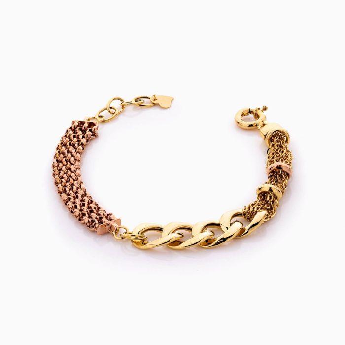 دستبند طلا 18 عیار زنانه زنجیری مدل کارتیر کد BL0449