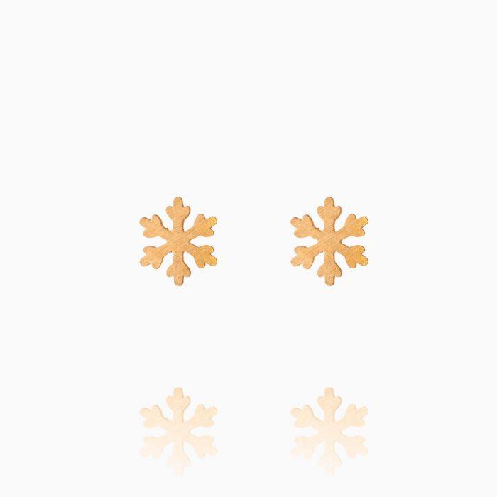 گوشواره طلا 18 عیار دخترانه فانتزی مدل دانه برف کد ER0332
