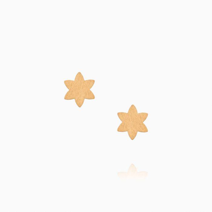 گوشواره طلا 18 عیار دخترانه فانتزی مدل ستاره کد ER0337