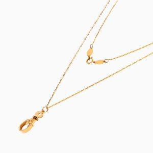 گردنبند طلا 18 عیار دخترانه اسپورت مدل لویی ویتون کد NL0326