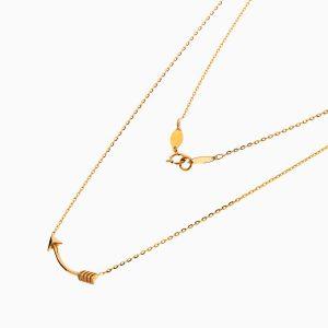 گردنبند طلا 18 عیار دخترانه فانتزی مدل پیکان کد NL0329