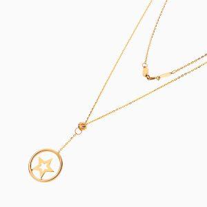 گردنبند طلا 18 عیار دخترانه اسپورت مدل آویز ستاره کد NL0330