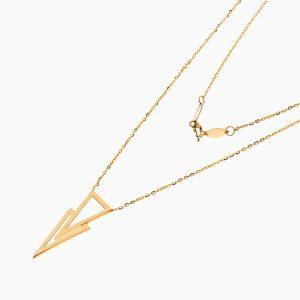 گردنبند طلا 18 عیار زنانه اسپورت مدل آویز مثلثی کد NL0346