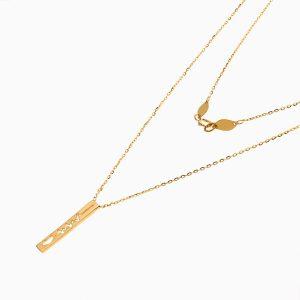 گردنبند طلا 18 عیار زنانه فانتزی مدل آویز ضربان قلب کد NL0347