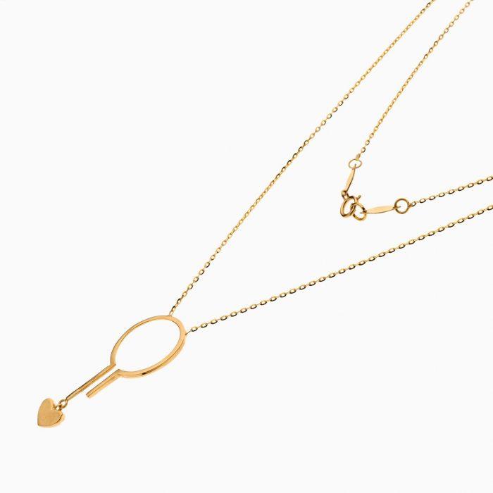 گردنبند طلا 18 عیار زنانه فانتزی مدل آویز قلب کد NL0350