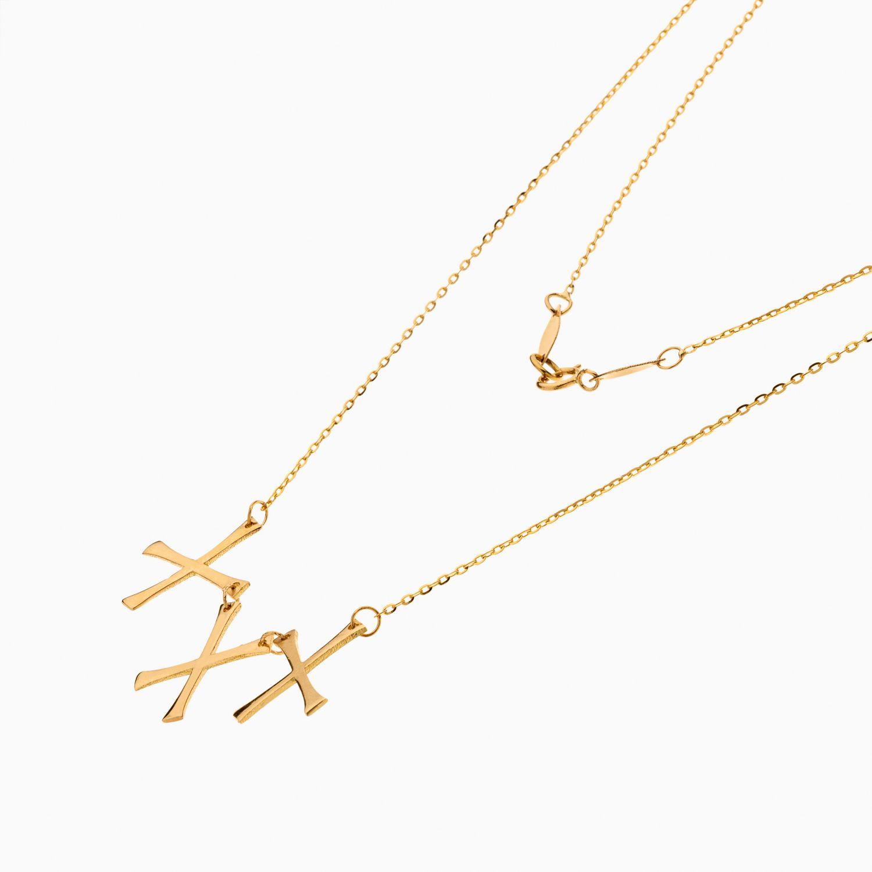 گردنبند طلا 18 عیار زنانه اسپورت مدل آویز حروف انگلیسی کد NL0354