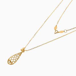گردنبند طلا 18 عیار زنانه فانتزی مدل لانه پروانه کد NL0356