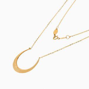 گردنبند طلا 18 عیار زنانه اسپورت مدل هلال ماه کد NL0359