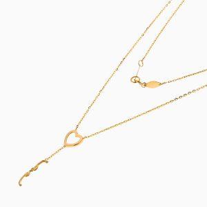 گردنبند طلا 18 عیار زنانه فانتزی مدل آویز LOVE کد NL0361