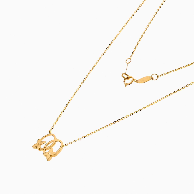 گردنبند طلا 18 عیار زنانه فانتزی رولو مدل گل ونکلیف کد NL0363
