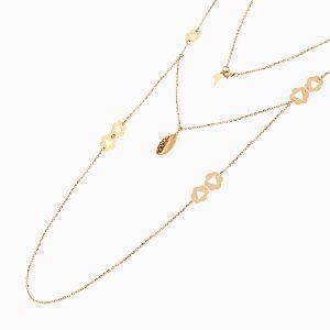 گردنبند طلا 18 عیار زنانه رولباسی رولو مدل گل و آویز اسلیمی کد NL0366