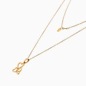 گردنبند طلا 18 عیار زنانه فانتزی رولو مدل قلب کد NL0369