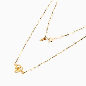 گردنبند طلا 18 عیار زنانه فانتزی رولو مدل ضربان قلب کد NL0370