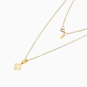 گردنبند طلا 18 عیار زنانه اسپورت رولو مدل شبدر کد NL0371