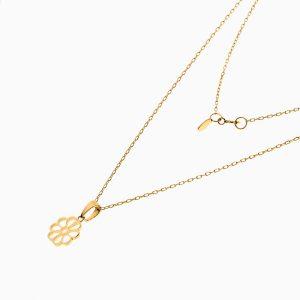 گردنبند طلا 18 عیار زنانه اسپورت رولو مدل گل کد NL0372