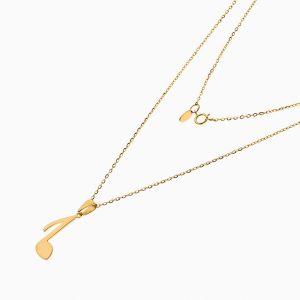 گردنبند طلا 18 عیار دخترانه فانتزی رولو مدل نت کد NL0374