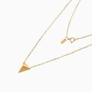 گردنبند طلا 18 عیار زنانه اسپورت رولو مدل هرمی کد NL0375