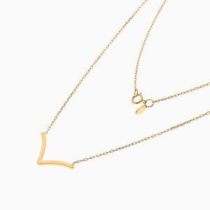 گردنبند طلا 18 عیار زنانه اسپورت رولو مدل وی V کد NL0376