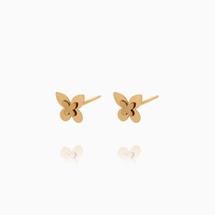 نیم ست طلا 18 عیار دخترانه مدل پروانه کد ST0234