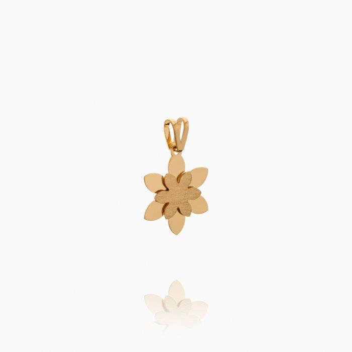 نیم ست طلا 18 عیار دخترانه مدل گل ستاره ای کد ST0237