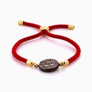 دستبند طلا 18 عیار دخترانه اسپرت طنابی سنتتیک مدل سکه نقره کد BL0455
