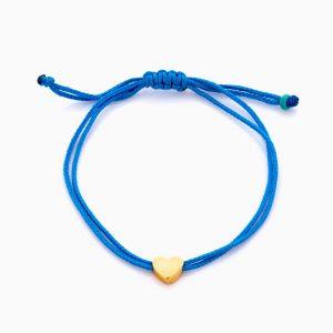 دستبند طلا 18 عیار دخترانه اسپرت طنابی مدل قلب کد BL0457