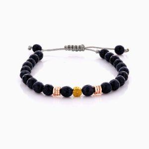 دستبند طلا 18 عیار دخترانه اسپرت با سنگ سنتتیک مدل گل کد BL0460